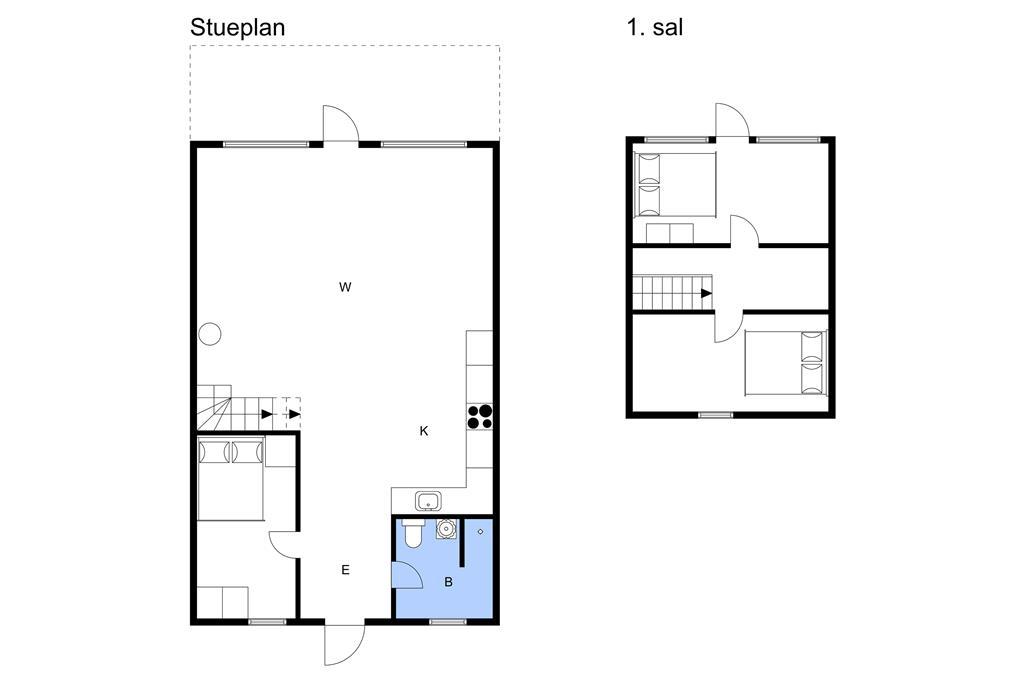 Indretning 1-3 Sommerhus M64333, Bakkevej 15, DK - 5464 Brenderup Fyn