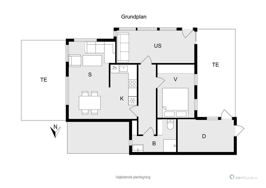 Indretning 1-19 Sommerhus 40316, Borgkolonien 3, DK - 7130 Juelsminde