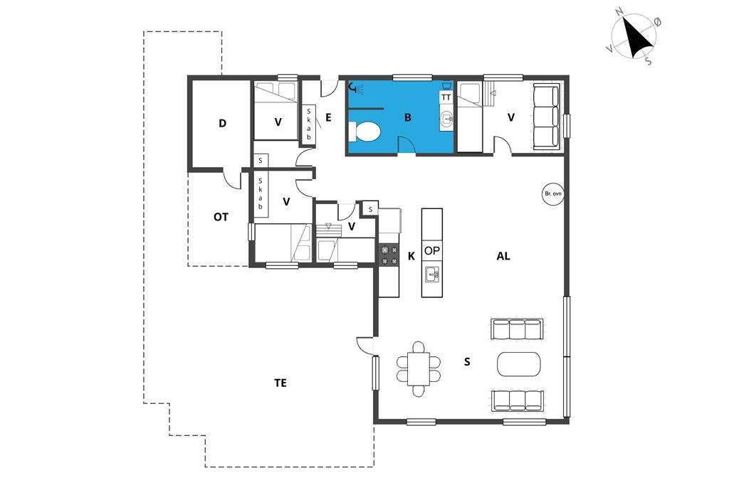 Interieur 1-19 Vakantiehuis 30037, Solsortevænget 3, DK - 8330 Beder