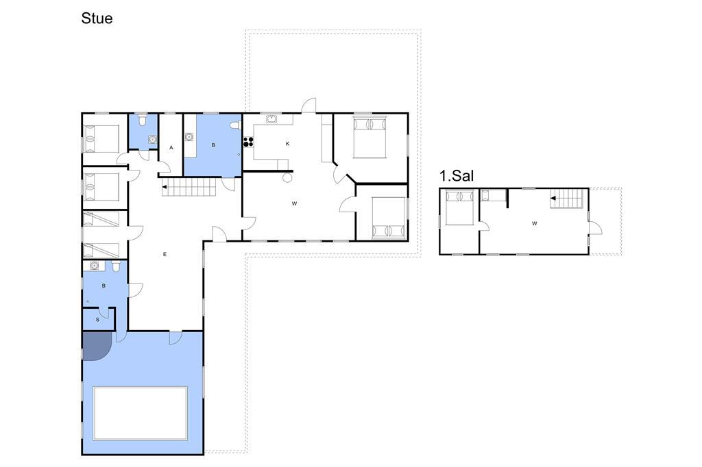 Indretning 1-3 Sommerhus L13045, Bjørnsagervej 8, DK - 7980 Vils