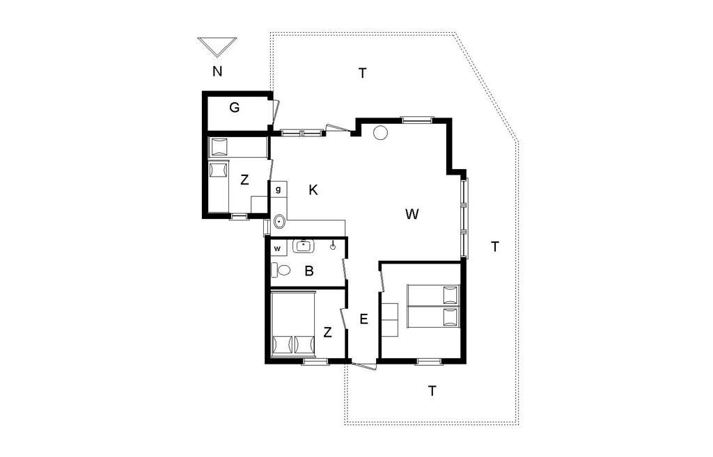Interieur 1-148 Vakantiehuis TV1044, Tannisgårdvej 34, DK - 9881 Bindslev