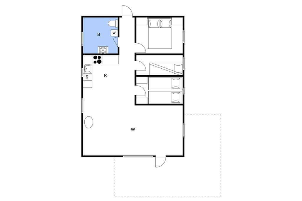 Indretning 1-3 Sommerhus M68003, Humlevænget 7, DK - 5700 Svendborg