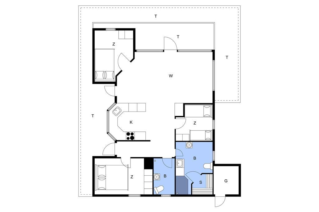 Indretning 1-23 Sommerhus 8424, Rastestedet 46, DK - 8420 Knebel
