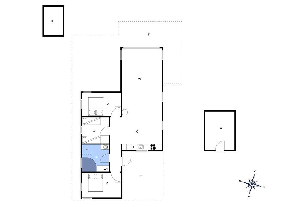Indretning 1-13 Sommerhus 530, Hannesvej 30, DK - 7770 Vestervig