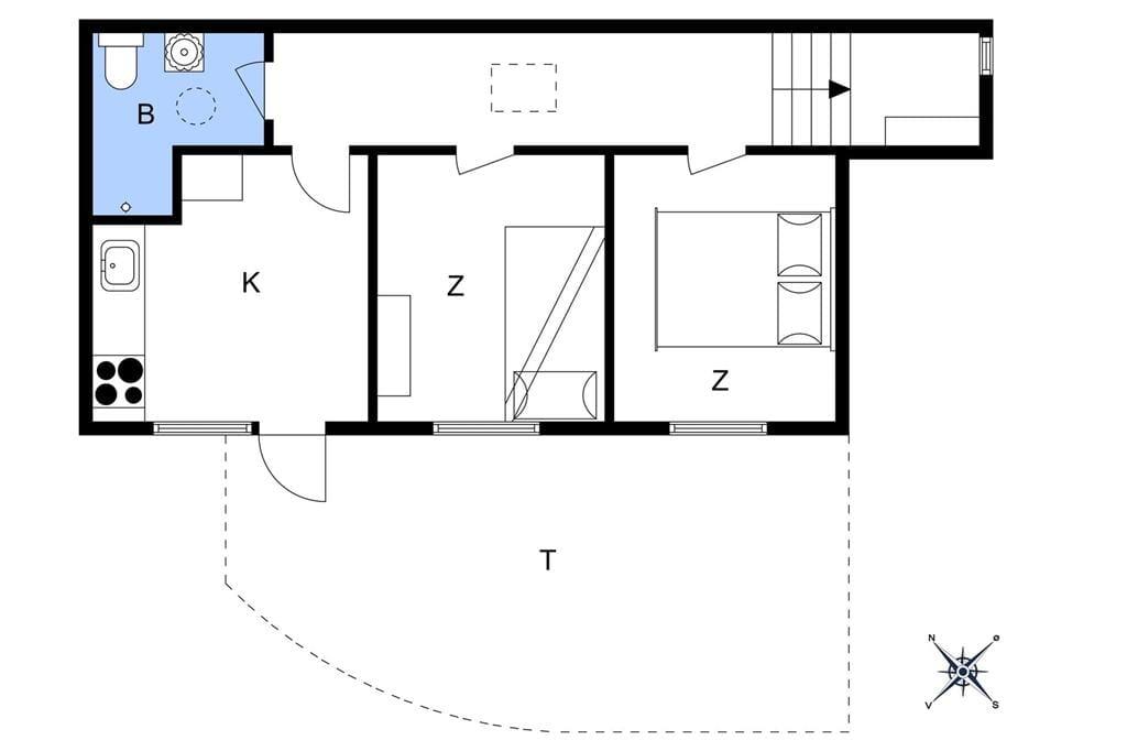 Indretning 1-3 Sommerhus F50424, A D Jørgensensgade 7, DK - 6300 Gråsten