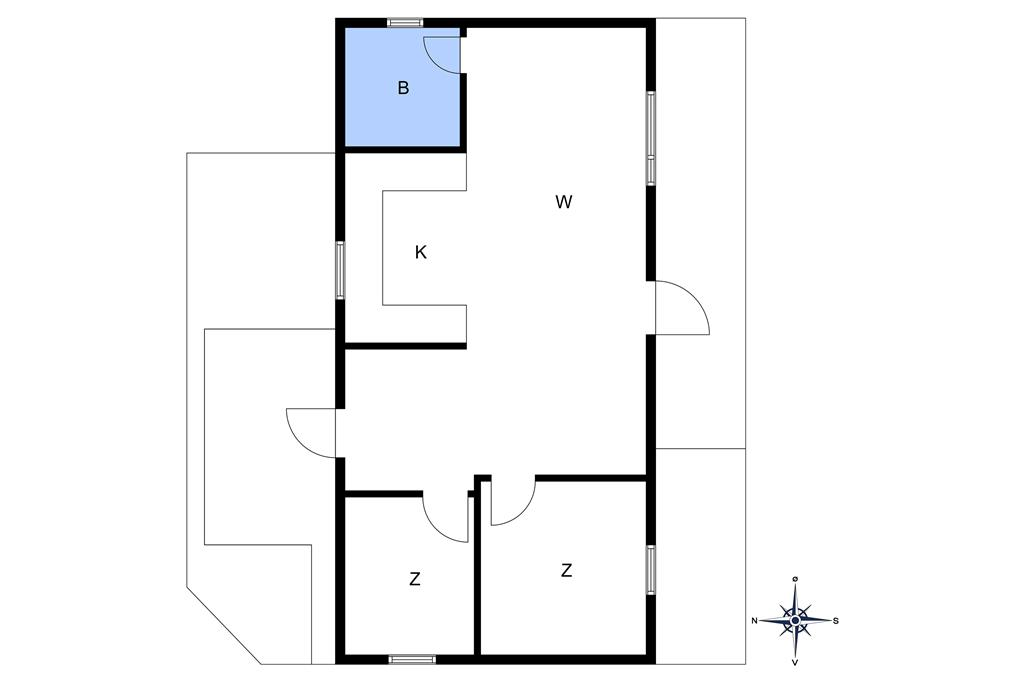 Indretning 1-10 Sommerhus 1504, Lyngvejen 5, DK - 3720 Aakirkeby