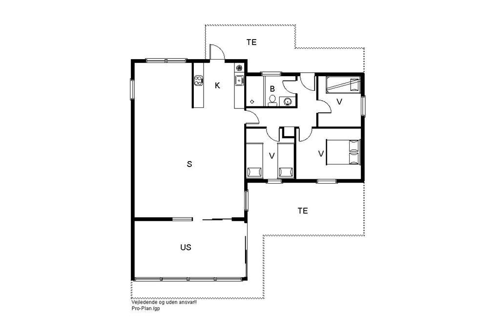 Indretning 1-19 Sommerhus 30061, Morbærvænget 18, DK - 8340 Malling