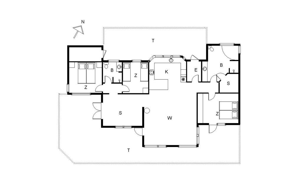 Innenausstattung 1-14 Ferienhaus 593, Klitageren 45, DK - 9850 Hirtshals