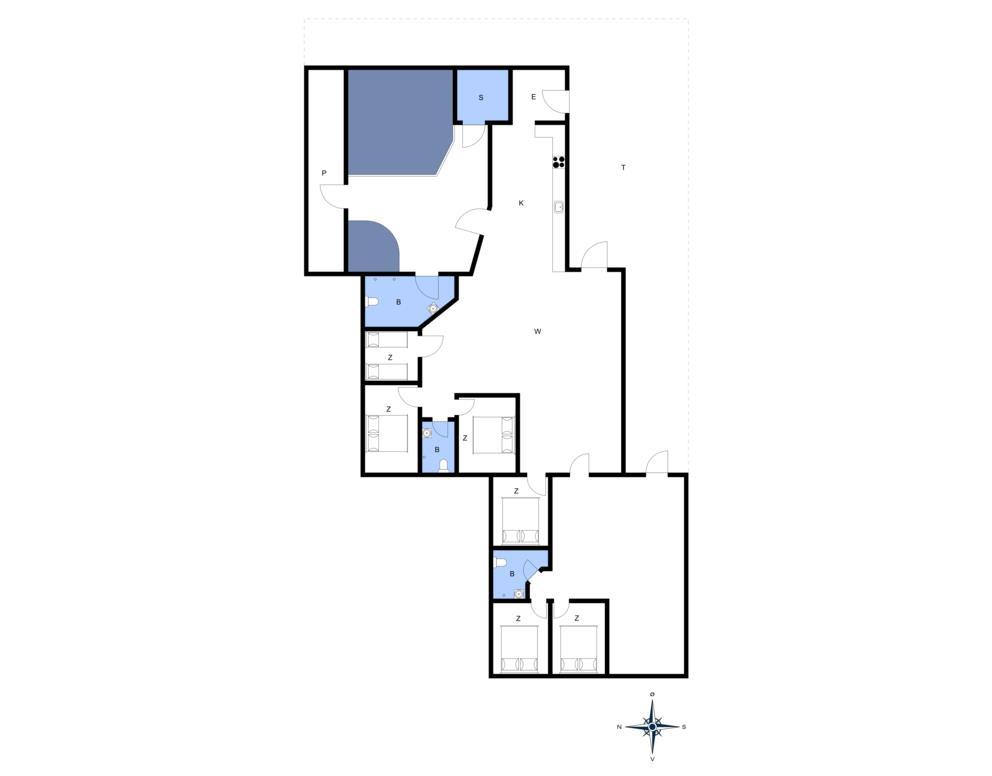 Indretning 1-20 Sommerhus 177, Vejlby Klit 14, DK - 7673 Harboøre
