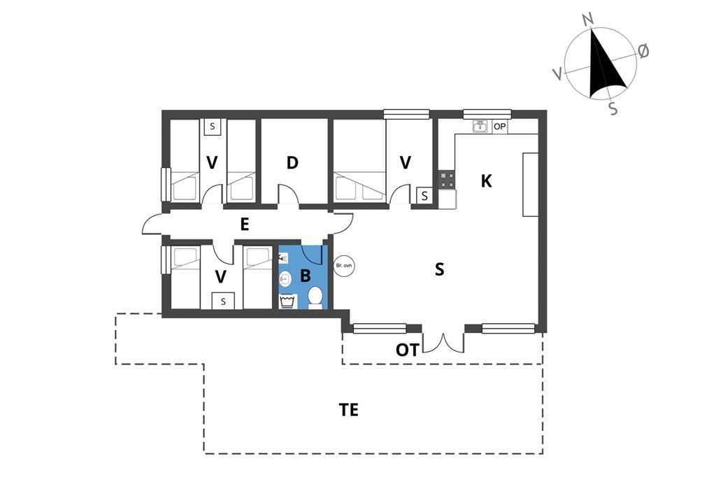 Indretning 1-23 Sommerhus 8105, Havesvinget 14, DK - 8410 Rønde