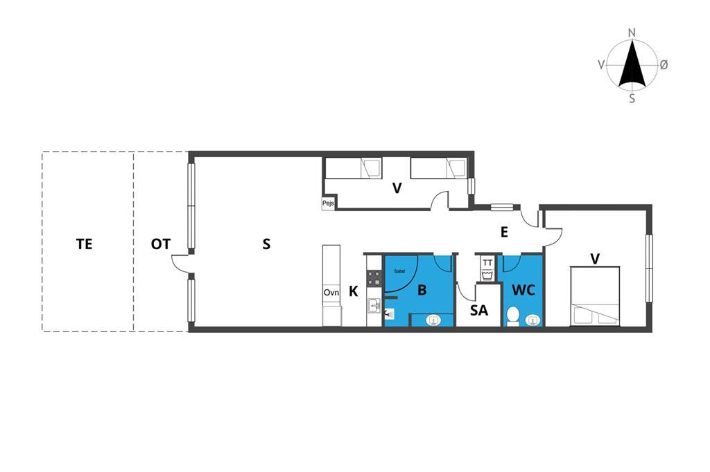Innredning 1-23 Feirehus 8465, Ndr. Strandvej 3, DK - 8400 Ebeltoft