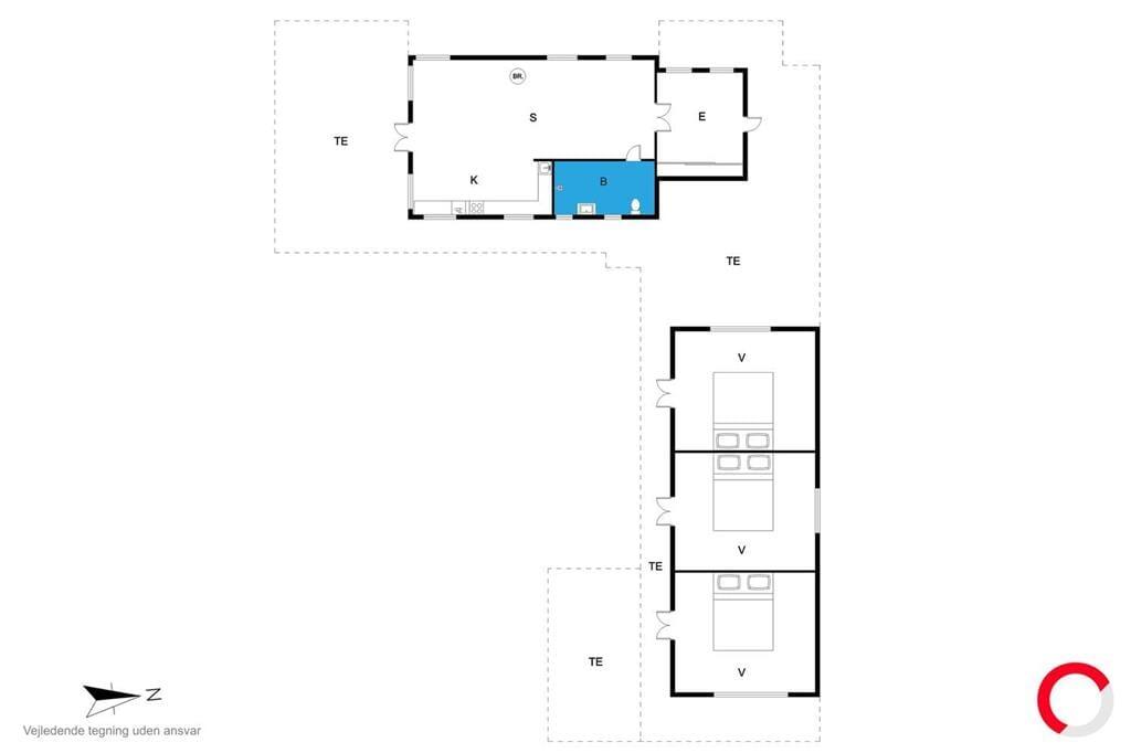 Inredning 1-23 Stuga 8235, Dragsmurvej 7, DK - 8420 Knebel