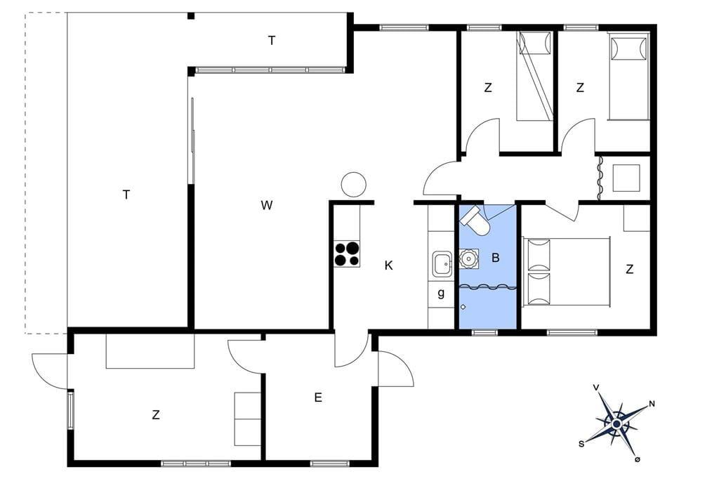 Indretning 1-23 Sommerhus 84129, Januarvej 2, DK - 8400 Ebeltoft