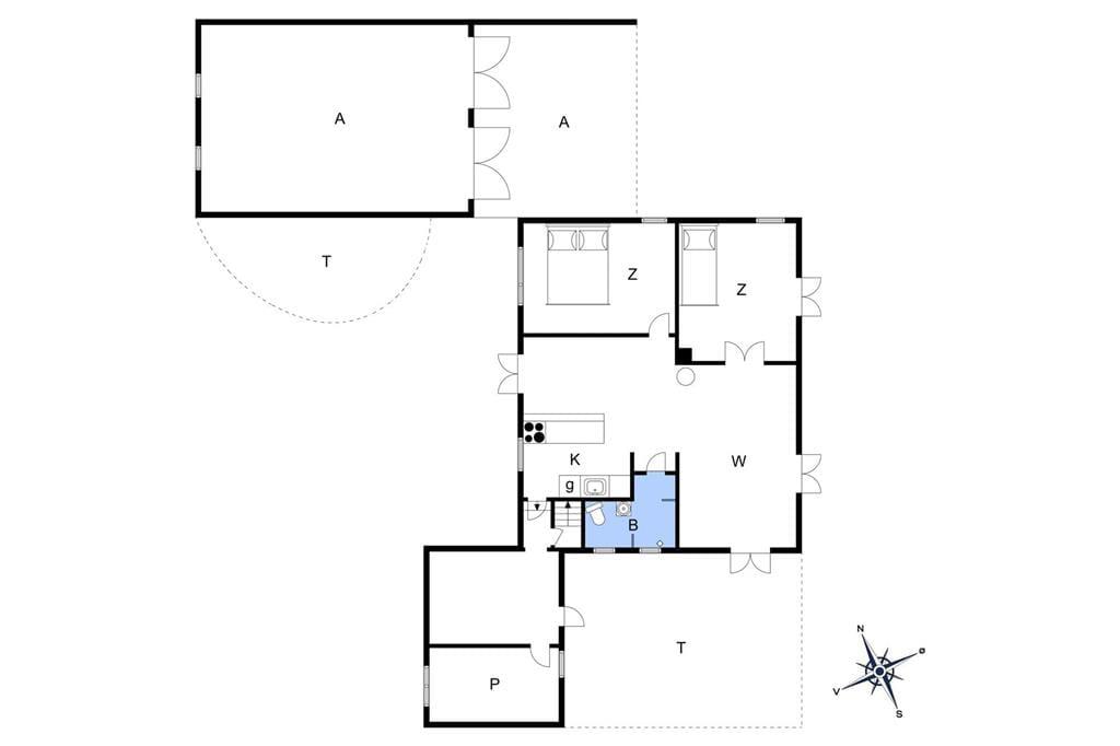 Indretning 1-13 Sommerhus 631, Niels Juels Vej 1, DK - 7752 Snedsted