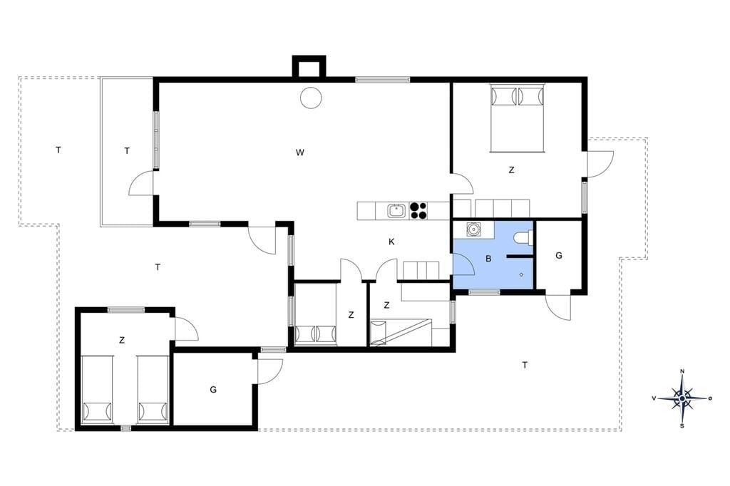 Innenausstattung 1-13 Ferienhaus 294, Hannesvej 43, DK - 7770 Vestervig
