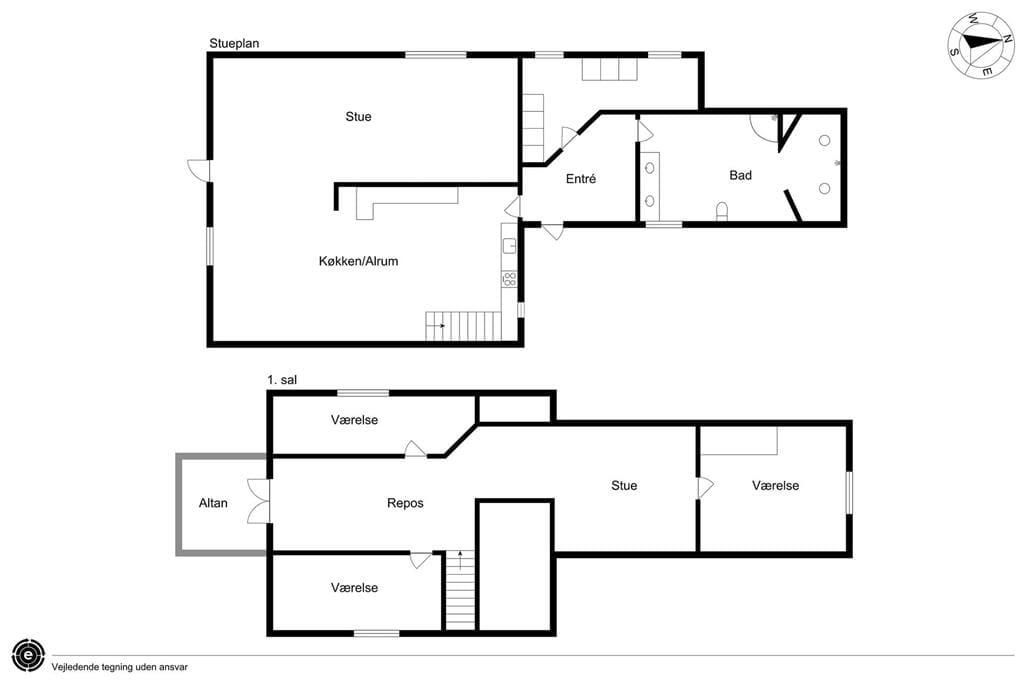 Indretning 1-15 Sommerhus 4018, Thyravej 7, DK - 4791 Borre