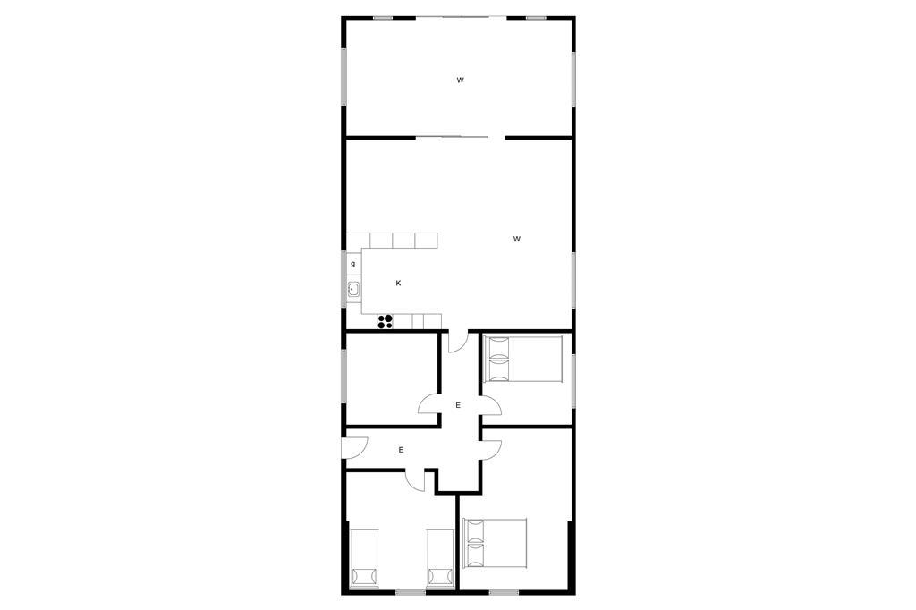 Indretning 1-3 Sommerhus M64181, Skåstrup Strand Øst 81, DK - 5400 Bogense