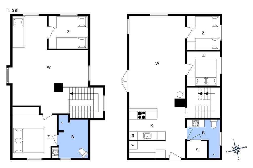 Indretning 1-3 Sommerhus L10109, Rønbakken 3, DK - 7790 Thyholm