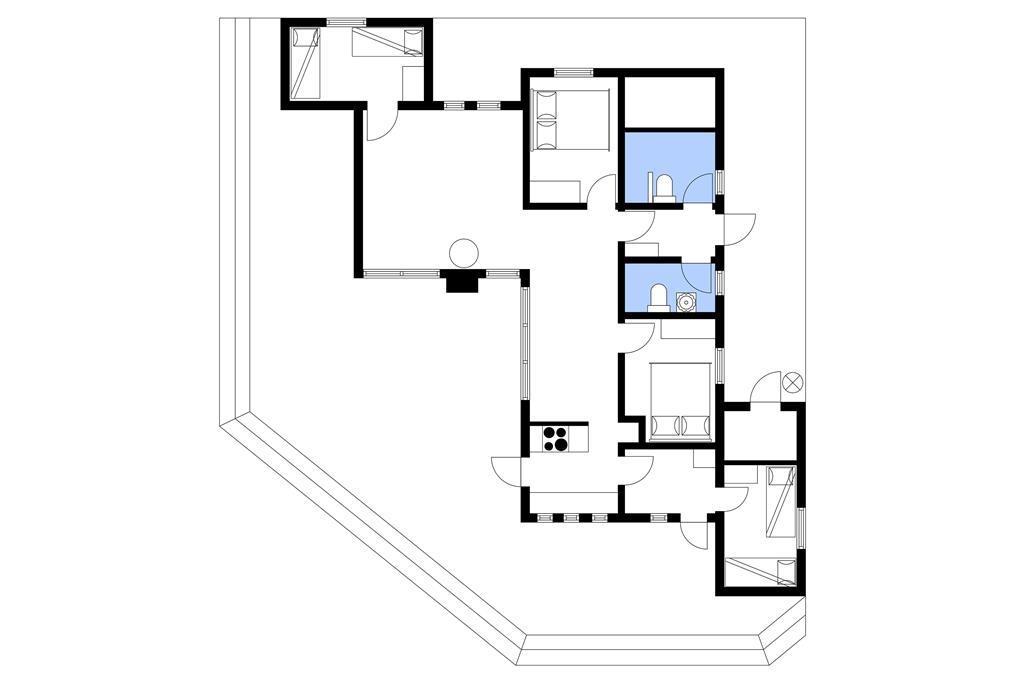 Innredning 1-10 Feirehus 2521, Th. Kofoedsvej 12, DK - 3730 Nexø