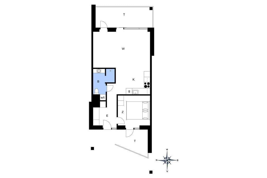 Innenausstattung 1-4 Ferienhaus 824, Mamrelund 6, DK - 6960 Hvide Sande