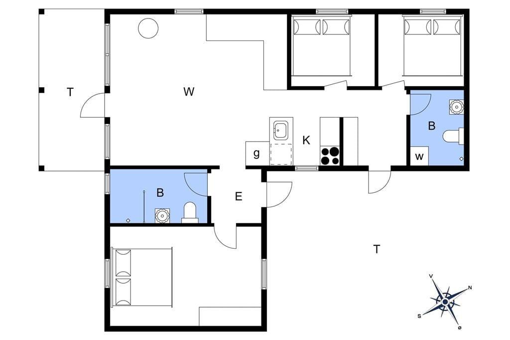 Indretning 1-174 Sommerhus M21011, Bynkevejen 30, DK - 4874 Gedser