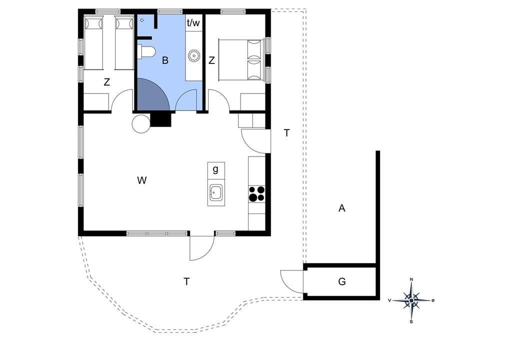Indretning 1-13 Sommerhus 495, Niels Juels Vej 29, DK - 7752 Snedsted