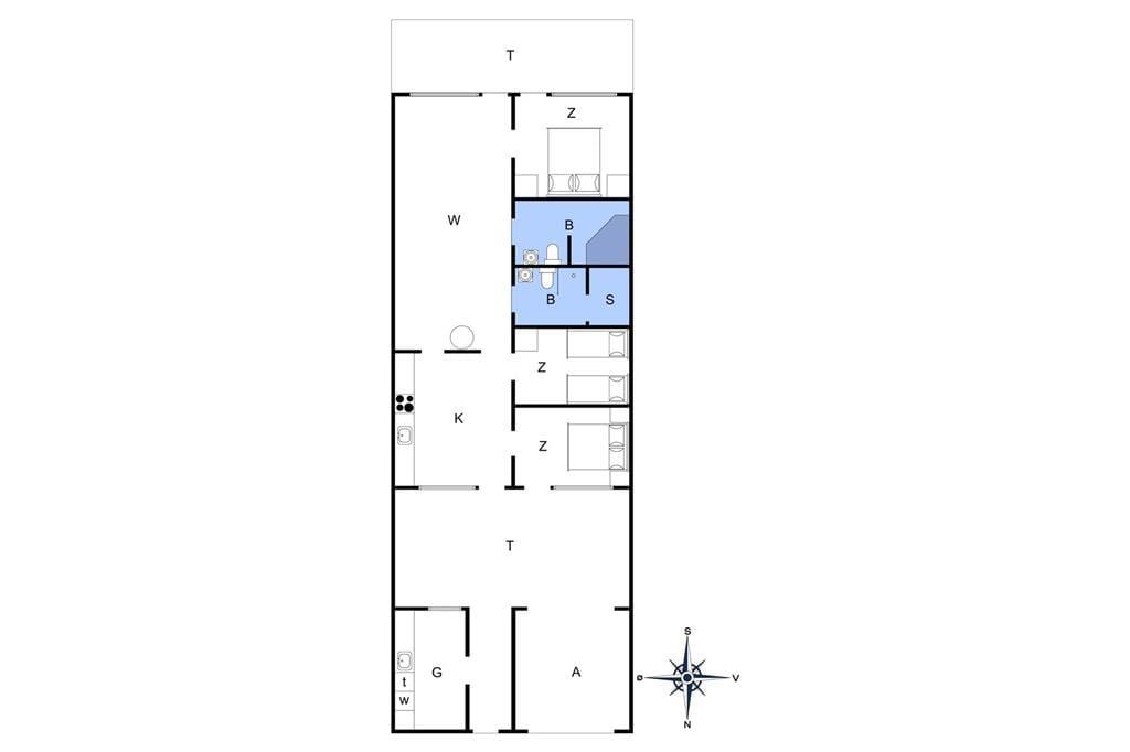 Indretning 1-4 Sommerhus 741, Slusen 41, DK - 6960 Hvide Sande