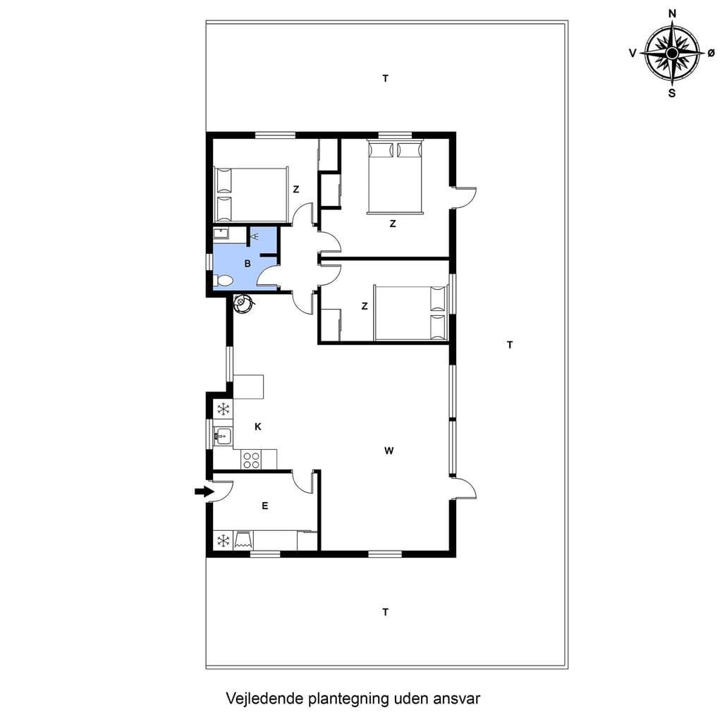Indretning 1-20 Sommerhus G165, Skovstjernevej 65, DK - 7620 Lemvig
