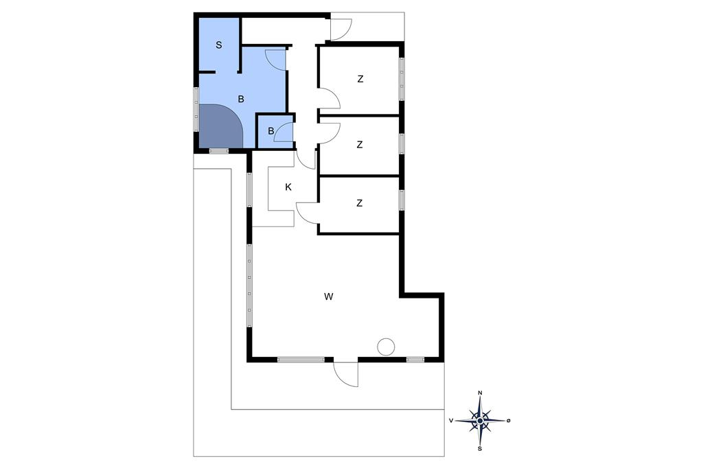 Indretning 1-10 Sommerhus 2630, Møllestien 6, DK - 3730 Nexø