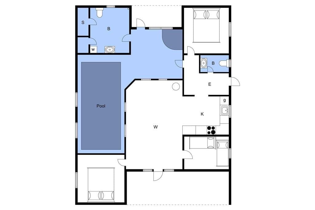 Interieur 1-3 Vakantiehuis M64229, Stjernevej 109, DK - 5500 Middelfart