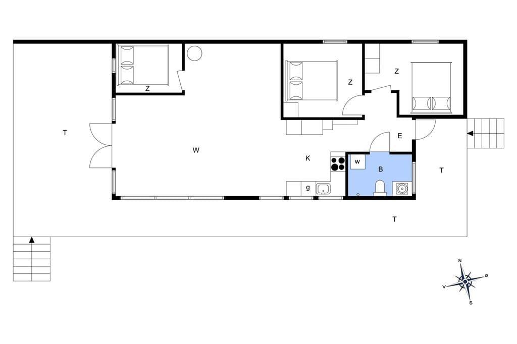Indretning 1-23 Sommerhus 8596, Agerøvej 10, DK - 8585 Glesborg