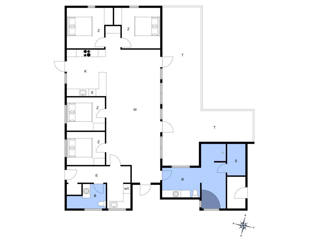 Indretning 1-14 Sommerhus 882, Helledievej 161, DK - 9480 Løkken