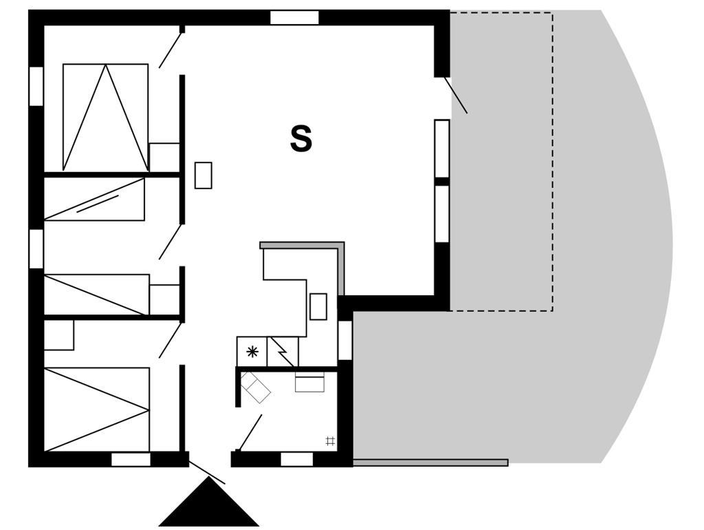 Indretning 1-175 Sommerhus 30058, Irisvej 383, DK - 6990 Ulfborg