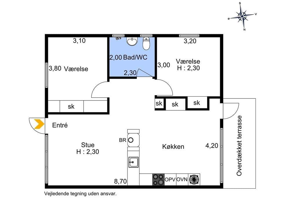Indretning 1-174 Sommerhus M15022, Bøtølundvej 187, DK - 4873 Væggerløse
