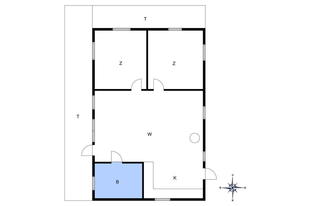 Indretning 1-10 Sommerhus 6719, Bagå 6, DK - 3790 Hasle