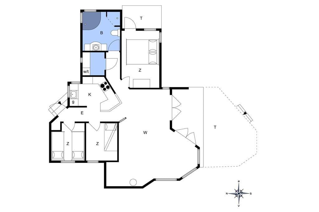 Indretning 1-6 Sommerhus N297, Krageholmsvej 51, DK - 4736 Karrebæksminde