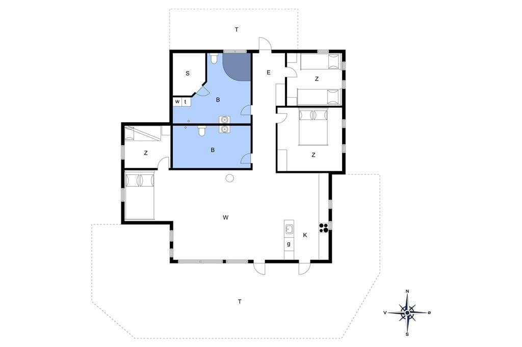 Innenausstattung 1-13 Ferienhaus 948, Tingbakken 26, DK - 7700 Thisted