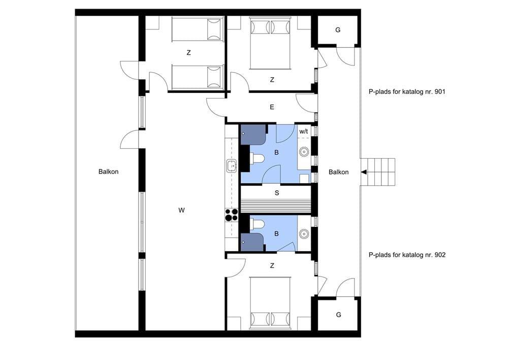 Indretning 1-4 Sommerhus 902, Langsand 98, DK - 6960 Hvide Sande