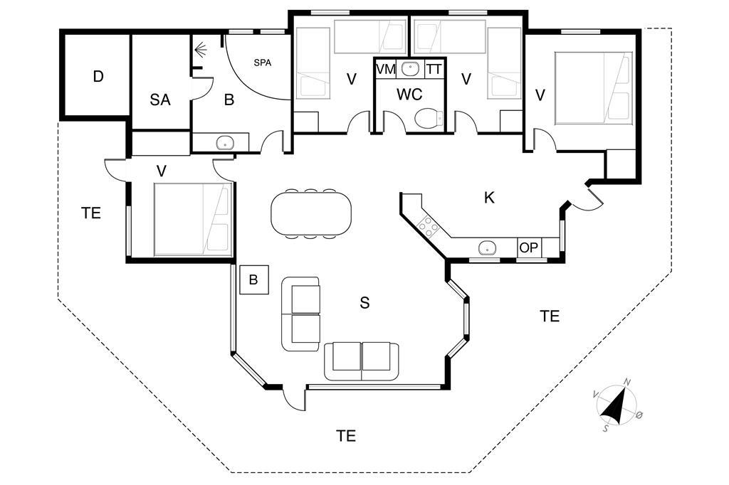 Interieur 1-19 Vakantiehuis 30410, Hulager 2, DK - 8300 Odder