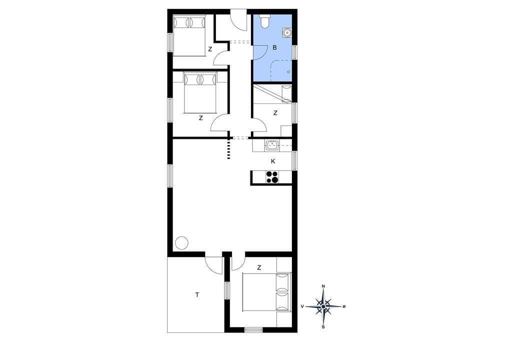Innenausstattung 1-4 Ferienhaus 640, Dortheasvej 6, DK - 6960 Hvide Sande