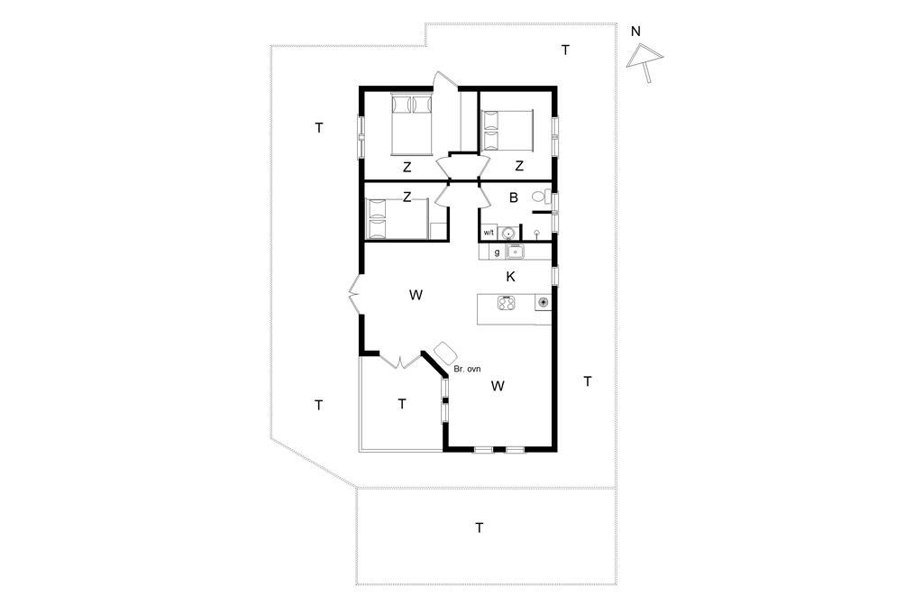 Interieur 1-14 Vakantiehuis 475, Peders Madsensvej 21, DK - 9492 Blokhus
