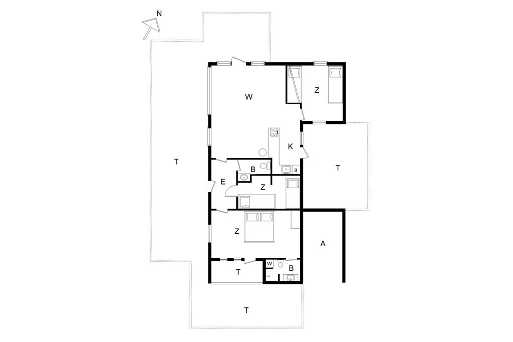 Innredning 1-14 Feirehus 136, Spurvevej 10, DK - 9492 Blokhus