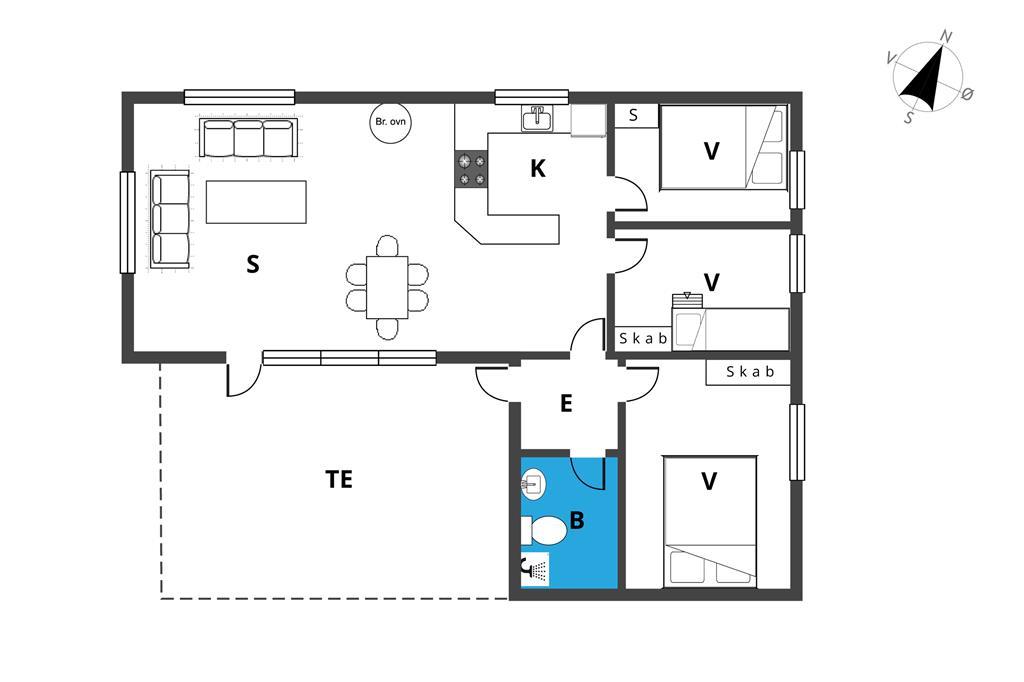 Innenausstattung 1-19 Ferienhaus 30352, Sdr. Skovvej 2, DK - 8300 Odder