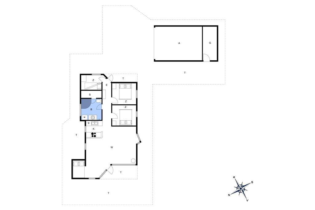 Indretning 1-22 Sommerhus C11104, Strandvænget 10, DK - 6893 Hemmet