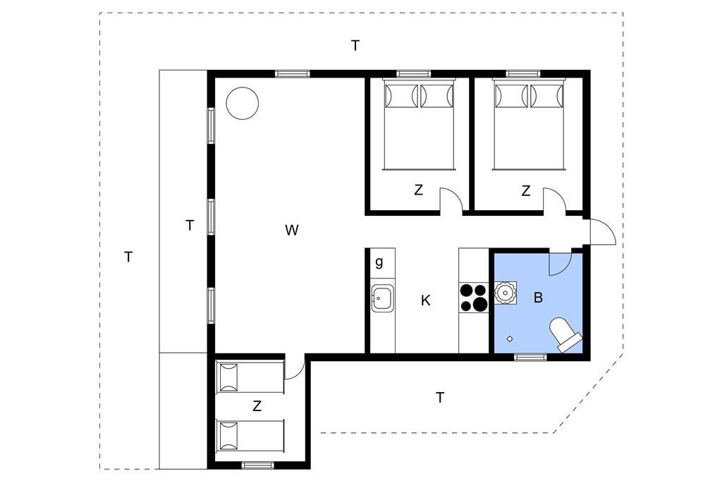 Innenausstattung 1-11 Ferienhaus 0055, Blåbærvej 5, DK - 6792 Rømø