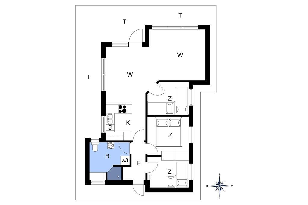 Interieur 1-14 Vakantiehuis 1223, Efteraarsvangen 3, DK - 9493 Saltum