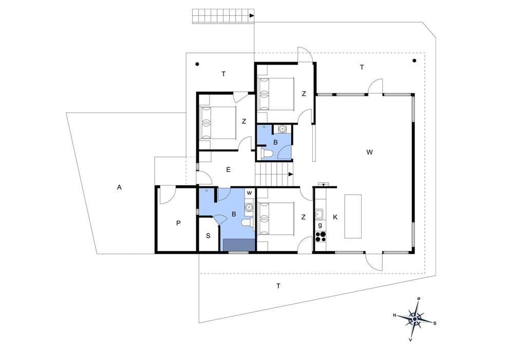 Indretning 1-401 Sommerhus OH331, Fruerlund Plantage 18, DK - 9560 Hadsund