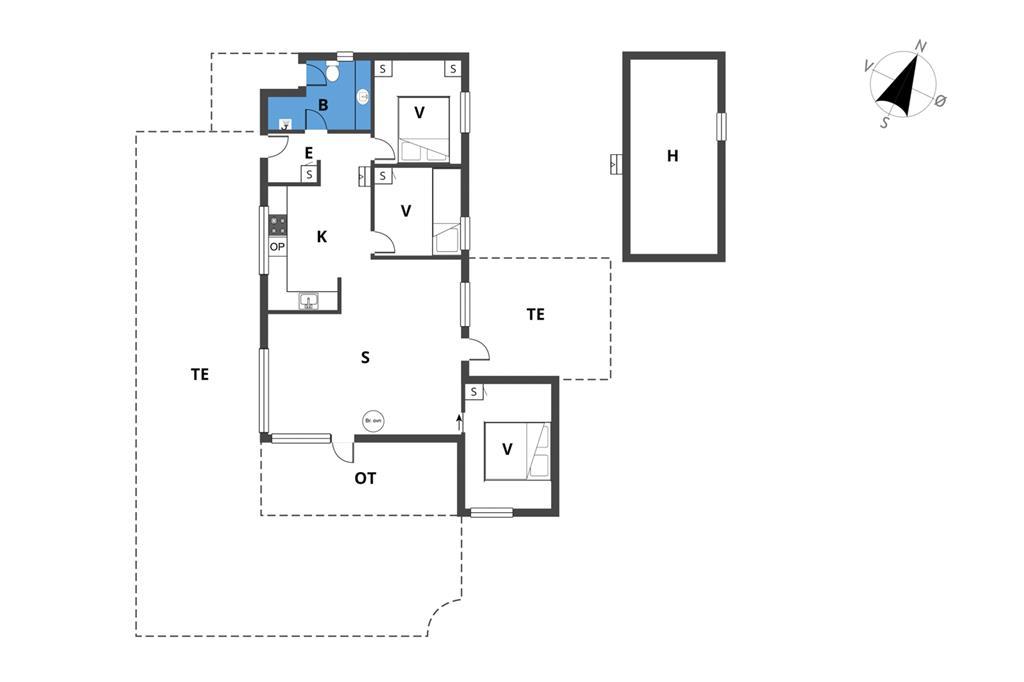 Interieur 1-23 Vakantiehuis 8452, Brigvej 47, DK - 8400 Ebeltoft