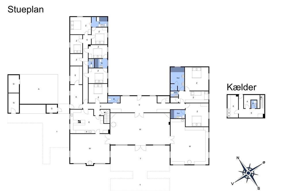 Indretning 1-3 Sommerhus M68016, Slotsalleen 100, DK - 5700 Svendborg