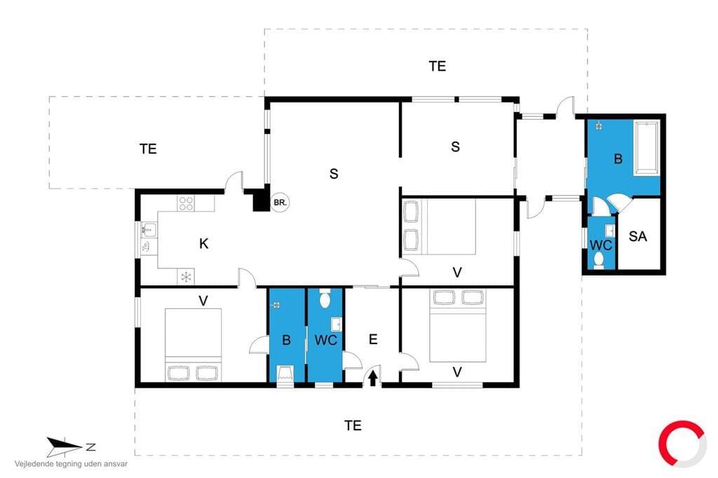 Innenausstattung 1-19 Ferienhaus 30069, Høgevænget 12, DK - 8330 Beder